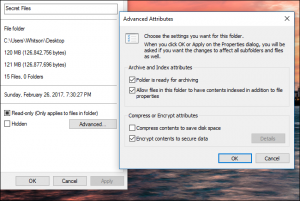 how to protect folder with password