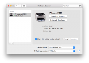 how to add printer to mac